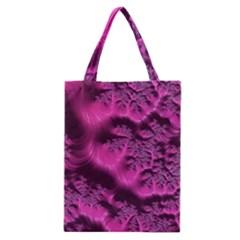 Fractal Artwork Pink Purple Elegant Classic Tote Bag