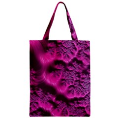 Fractal Artwork Pink Purple Elegant Zipper Classic Tote Bag