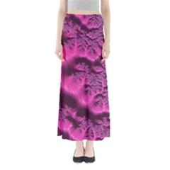 Fractal Artwork Pink Purple Elegant Maxi Skirts