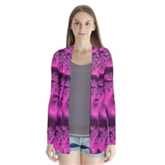 Fractal Artwork Pink Purple Elegant Cardigans