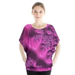 Fractal Artwork Pink Purple Elegant Blouse