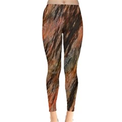 Texture Stone Rock Earth Leggings