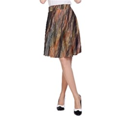 Texture Stone Rock Earth A Line Skirt