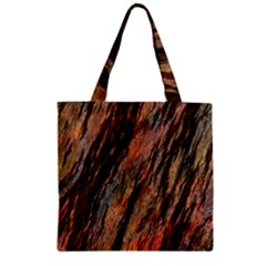 Texture Stone Rock Earth Zipper Grocery Tote Bag