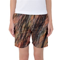 Texture Stone Rock Earth Women s Basketball Shorts