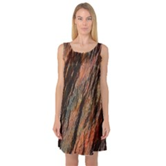 Texture Stone Rock Earth Sleeveless Satin Nightdress