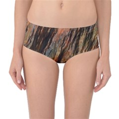 Texture Stone Rock Earth Mid Waist Bikini Bottoms