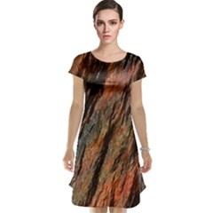 Texture Stone Rock Earth Cap Sleeve Nightdress