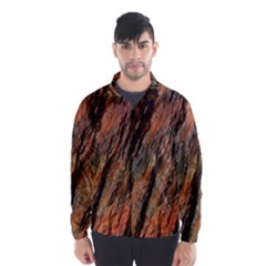 Texture Stone Rock Earth Wind Breaker (men)