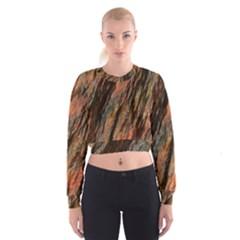 Texture Stone Rock Earth Women s Cropped Sweatshirt