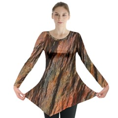 Texture Stone Rock Earth Long Sleeve Tunic