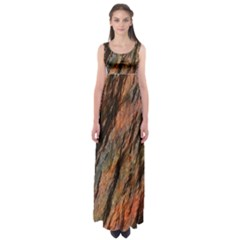 Texture Stone Rock Earth Empire Waist Maxi Dress