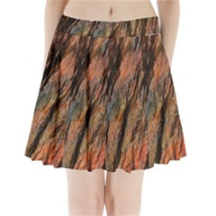 Texture Stone Rock Earth Pleated Mini Skirt
