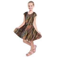 Texture Stone Rock Earth Kids  Short Sleeve Dress