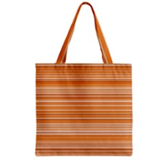 Line Brown Grocery Tote Bag