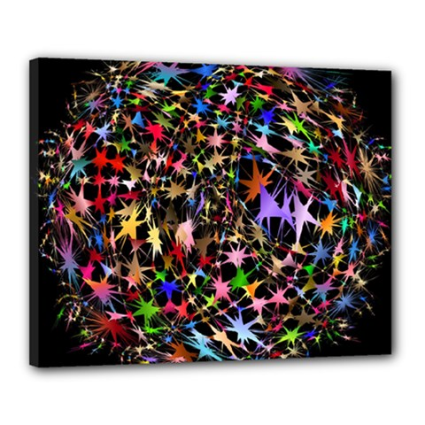 Network Integration Intertwined Canvas 20  X 16