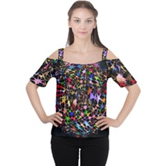 Network Integration Intertwined Women s Cutout Shoulder Tee