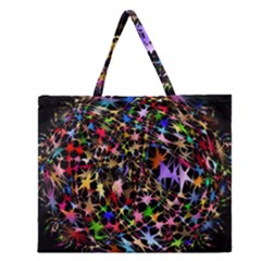 Network Integration Intertwined Zipper Large Tote Bag
