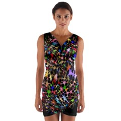 Network Integration Intertwined Wrap Front Bodycon Dress