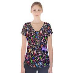 Network Integration Intertwined Short Sleeve Front Detail Top
