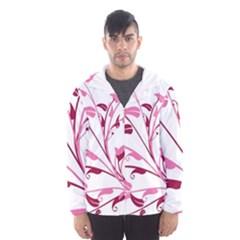 Leaf Pink Floral Hooded Wind Breaker (Men)