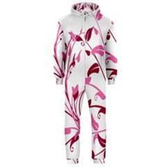 Leaf Pink Floral Hooded Jumpsuit (men)