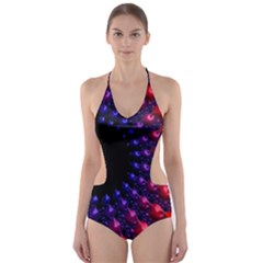 Fractal Mathematics Abstract Cut Out One Piece Swimsuit
