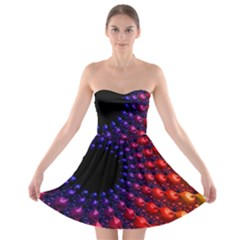 Fractal Mathematics Abstract Strapless Bra Top Dress