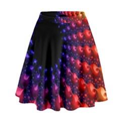 Fractal Mathematics Abstract High Waist Skirt