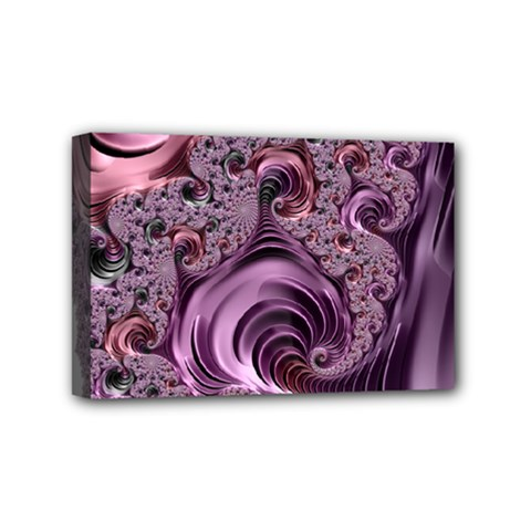 Purple Abstract Art Fractal Art Fractal Mini Canvas 6  X 4
