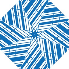 Line Blue Chevron Hook Handle Umbrellas (Small)