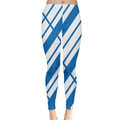 Line Blue Chevron Leggings