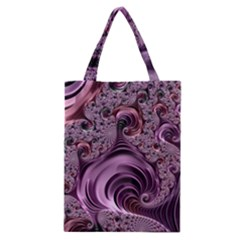 Purple Abstract Art Fractal Art Fractal Classic Tote Bag