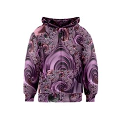 Purple Abstract Art Fractal Art Fractal Kids  Zipper Hoodie