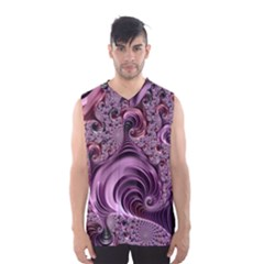 Purple Abstract Art Fractal Art Fractal Men s Basketball Tank Top