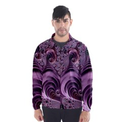 Purple Abstract Art Fractal Art Fractal Wind Breaker (Men)