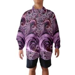 Purple Abstract Art Fractal Art Fractal Wind Breaker (kids)