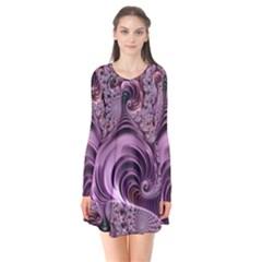Purple Abstract Art Fractal Art Fractal Flare Dress