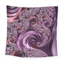 Purple Abstract Art Fractal Art Fractal Square Tapestry (large)