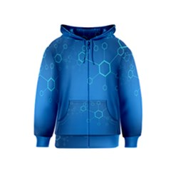 Molecules Classic Medicine Medical Terms Comprehensive Study Medical Blue Kids  Zipper Hoodie