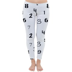 Number Black Classic Winter Leggings