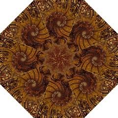 Copper Caramel Swirls Abstract Art Golf Umbrellas