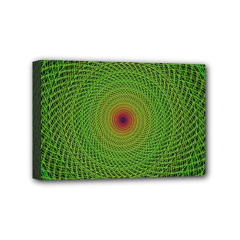Green Fractal Simple Wire String Mini Canvas 6  x 4