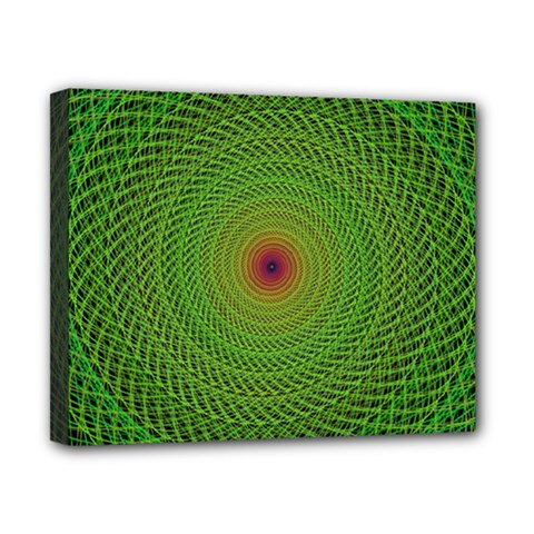 Green Fractal Simple Wire String Canvas 10  X 8