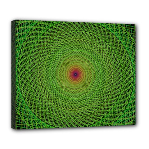Green Fractal Simple Wire String Deluxe Canvas 24  X 20