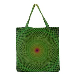 Green Fractal Simple Wire String Grocery Tote Bag