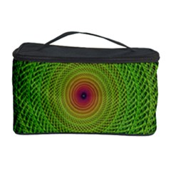 Green Fractal Simple Wire String Cosmetic Storage Case