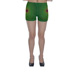Green Fractal Simple Wire String Skinny Shorts