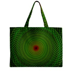 Green Fractal Simple Wire String Zipper Mini Tote Bag