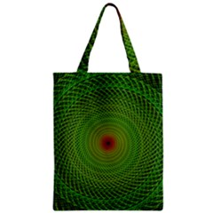 Green Fractal Simple Wire String Zipper Classic Tote Bag
